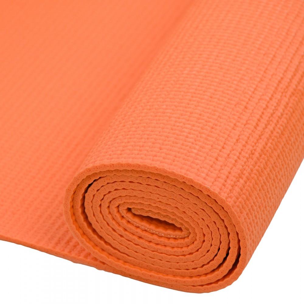 Mata do Ćwiczeń Fitness Joga Crossfit Pomarańczowa