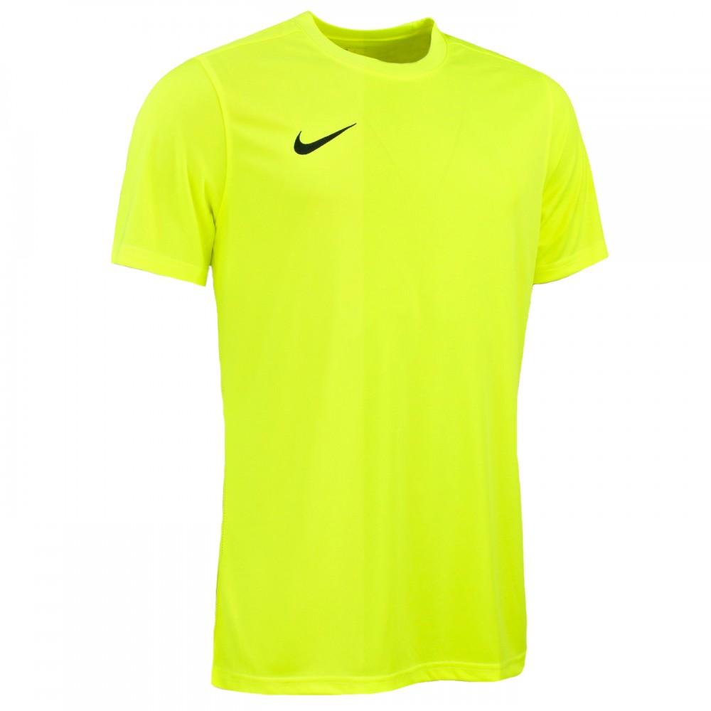 NIKE Koszulka Treningowa Męska DRI-FIT PARK VII Żółty Laserowy