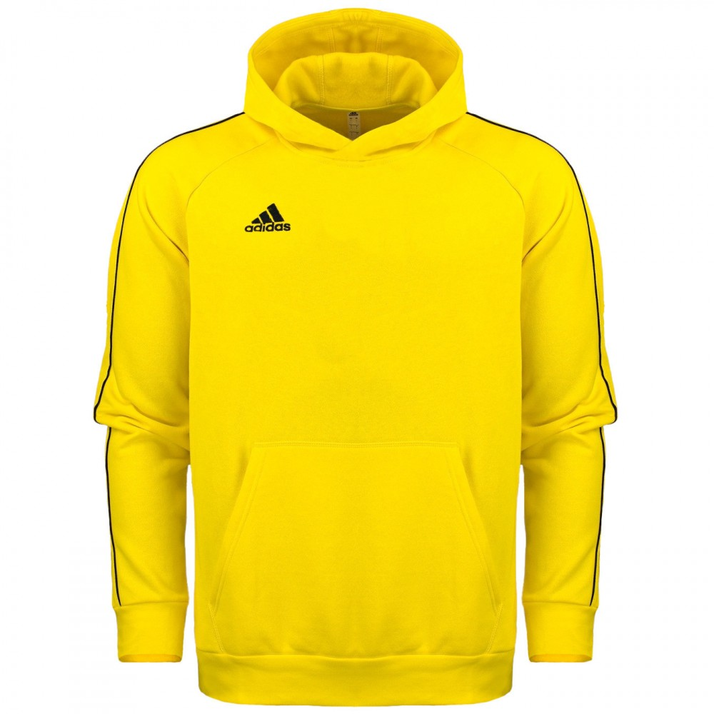 Bluza Chłopięca Adidas Bawełniana Kangurka Kaptur Junior Żółta