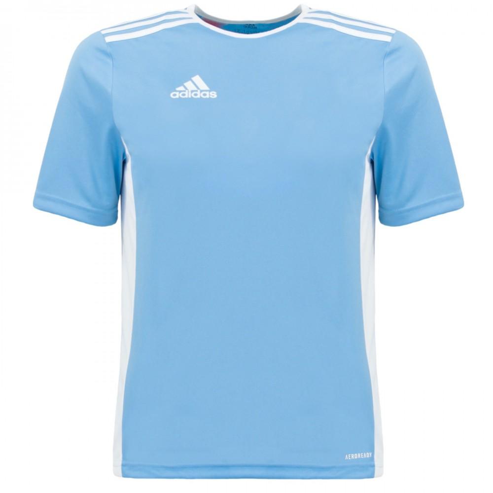 ADIDAS Koszulka Dziecięca Treningowa Trzy Paski Błękitna