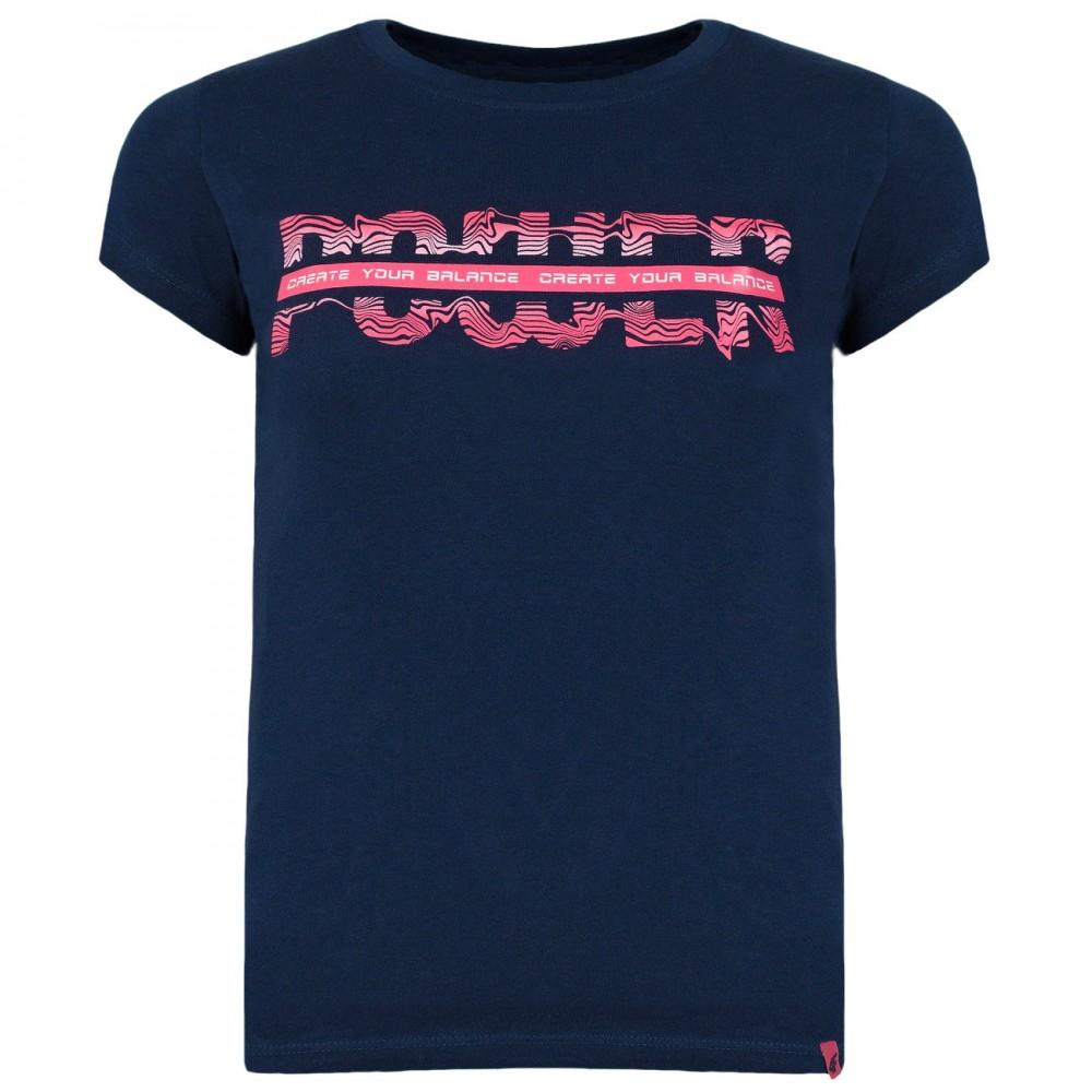 4F Koszulka Dziewczęca T-shirt Bawełniany Granatowa
