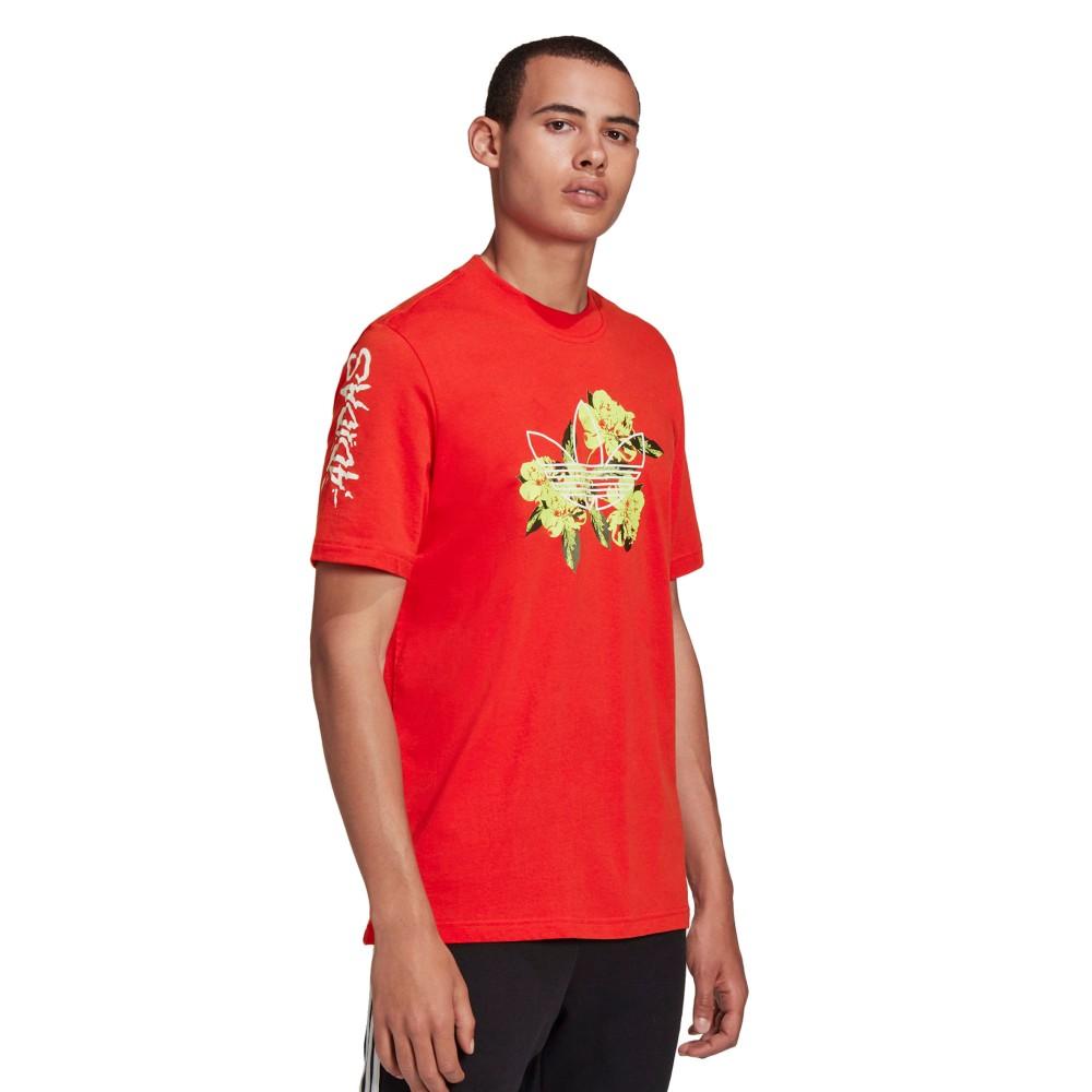 Koszulka Męska Adidas Bawełniana T-SHIRT Czerwony