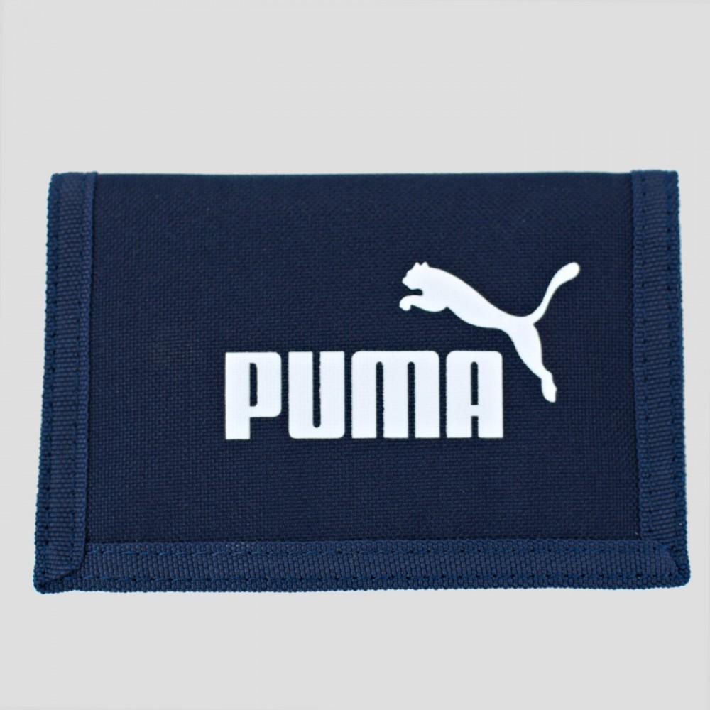 Puma Portfel Damski Męskie Sportowy Duże Logo Granatowy