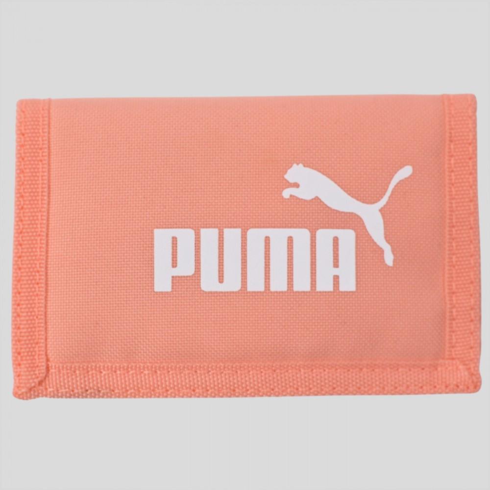 Puma Portfel Damski Męskie Sportowy Duże Logo Brzoskwiniowy
