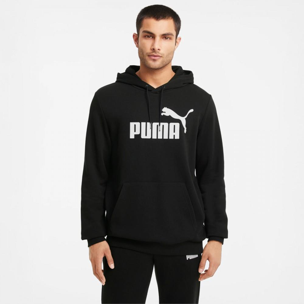 Puma Bluza Męska Kangurka Sportowa z Kapturem Czarna