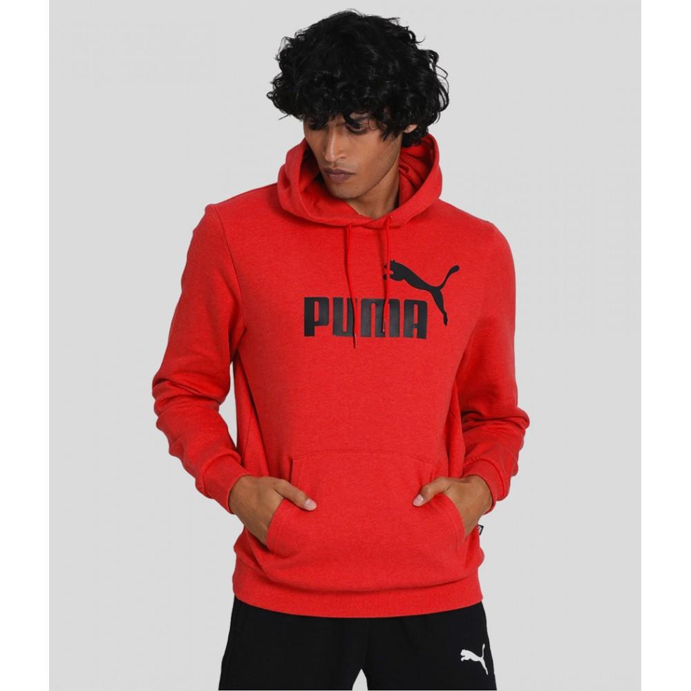 Puma Męska Bluza Sportowa z Kapturem Kangurka Czerwona