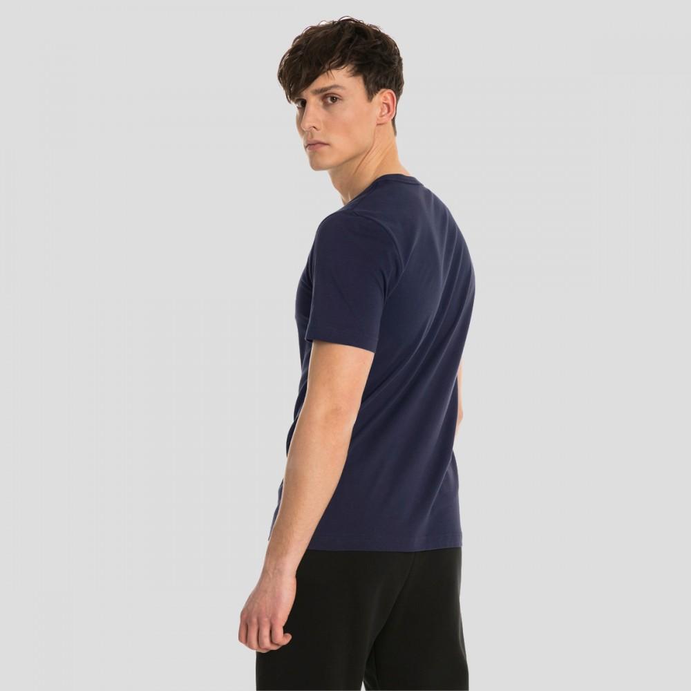 Koszulka Bawełniana Męska Puma T-Shirt Granatowa