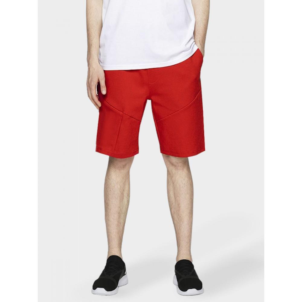 Krótkie Spodenki 4F Męskie Dresowe Sportowe Czerwone