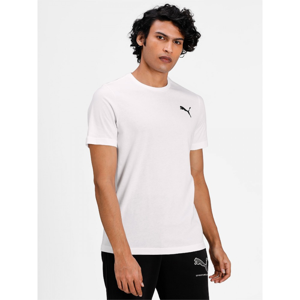 Koszulka Męska Puma T-Shirt Logo Bawełniana Biała