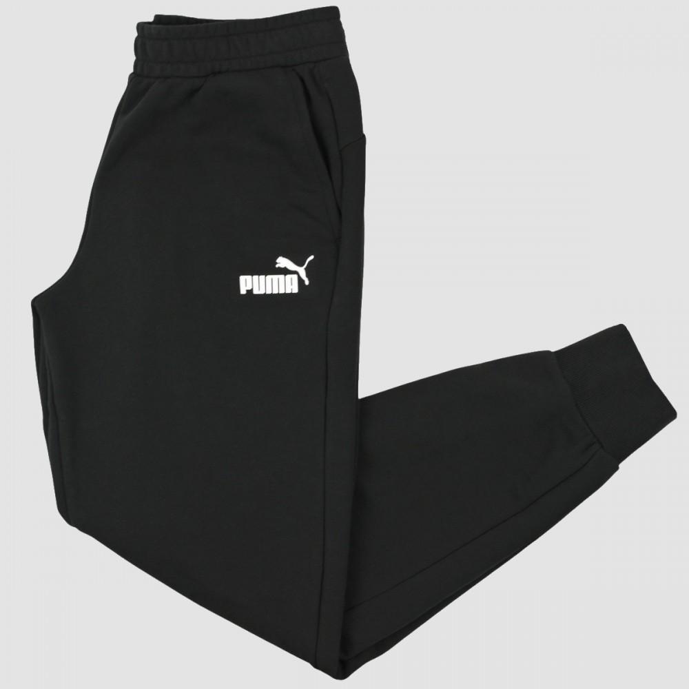 Chłopięce Spodnie Puma Bawełniane Sportowe Czarne