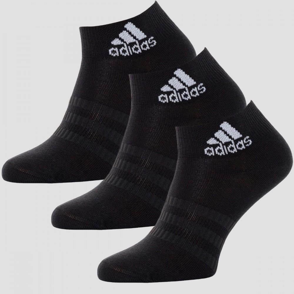 Skarpety Adidas Skarpetki Do Kostki Czarne 3-pak