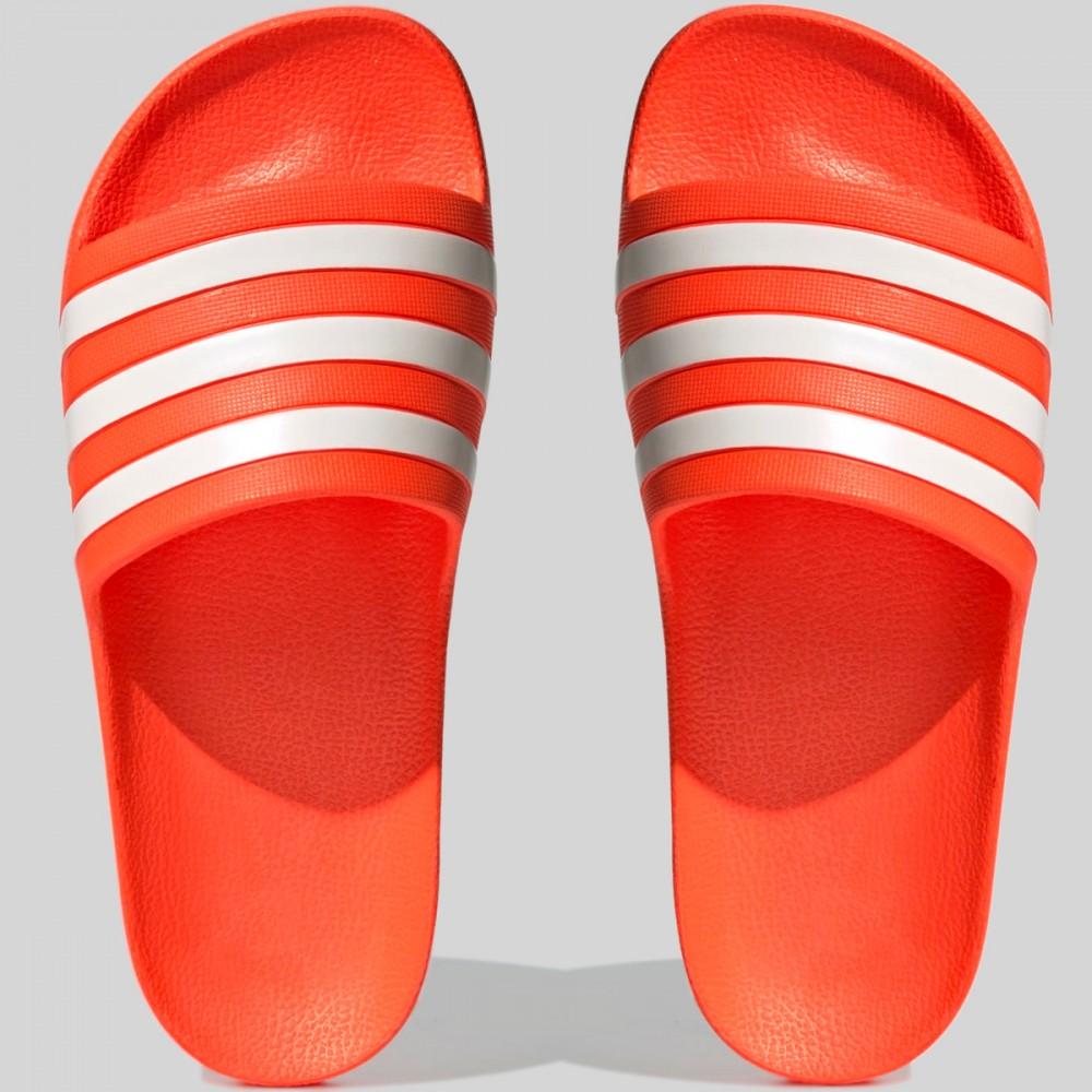 Klapki Damskie Adidas Adilette Aqua Na Plażę Basen Sportowe Pomarańczowe