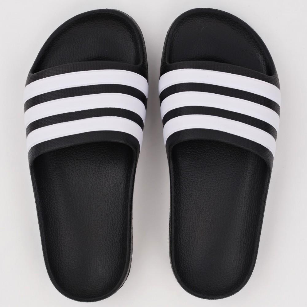 Klapki Junior Adidas Adilette Aqua Na Plażę Basen Sportowe Czarne