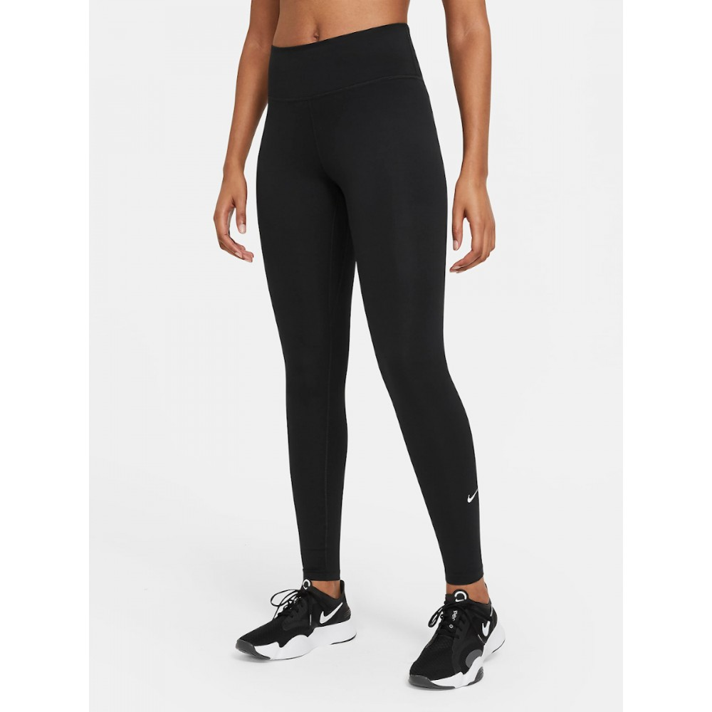 Legginsy Nike One Getry Damskie Treningowe Czarne Wysoki Stan