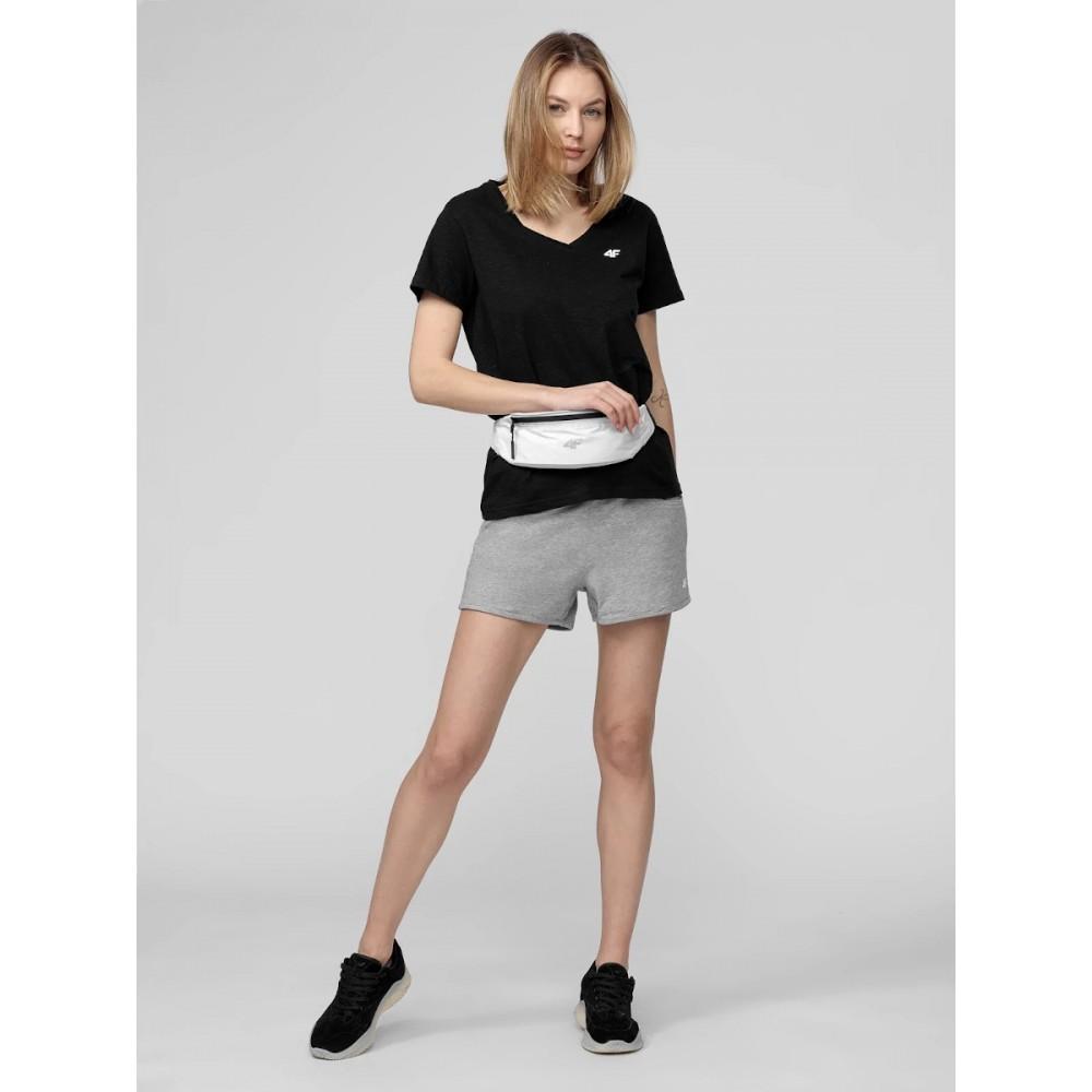 Koszulka Damska 4F T-Shirt Bawełniany Czarna