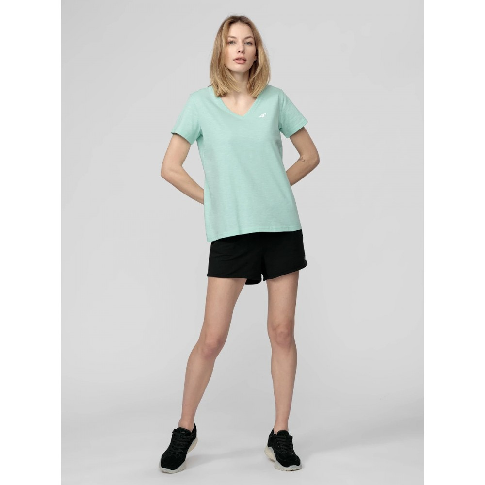 4F Koszulka Damska T-Shirt Bawełniany Oversize Miętowy