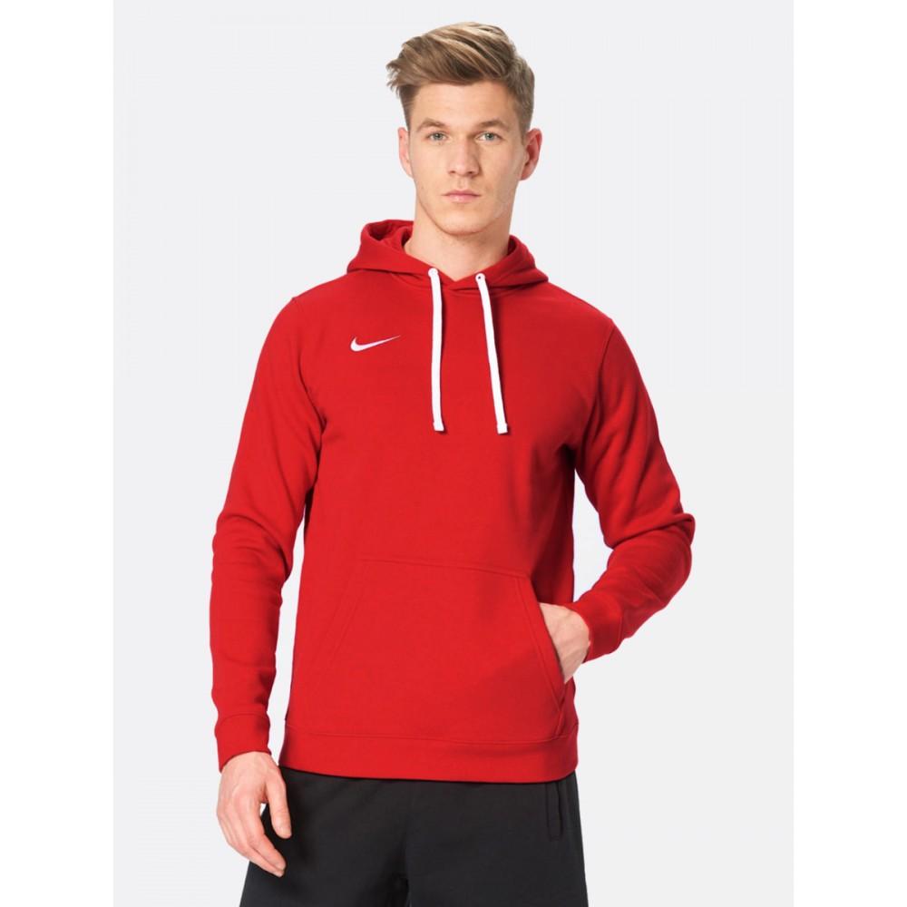 NIKE Wkładana Bluza Męska z Kapturem Bawełniana Kangurka Czerwona