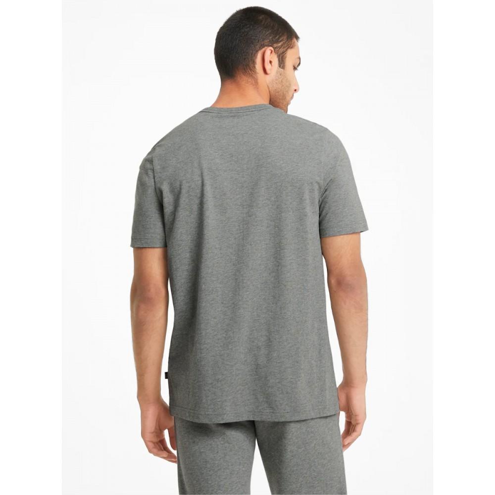 Koszulka Bawełniana Męska Puma T-Shirt Szary Melanż
