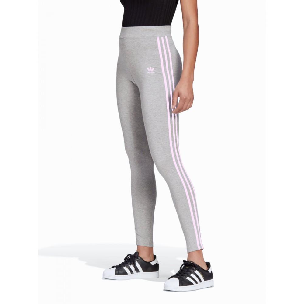 Legginsy Dziewczęce Adidas Sportowe Bawełniane Szare
