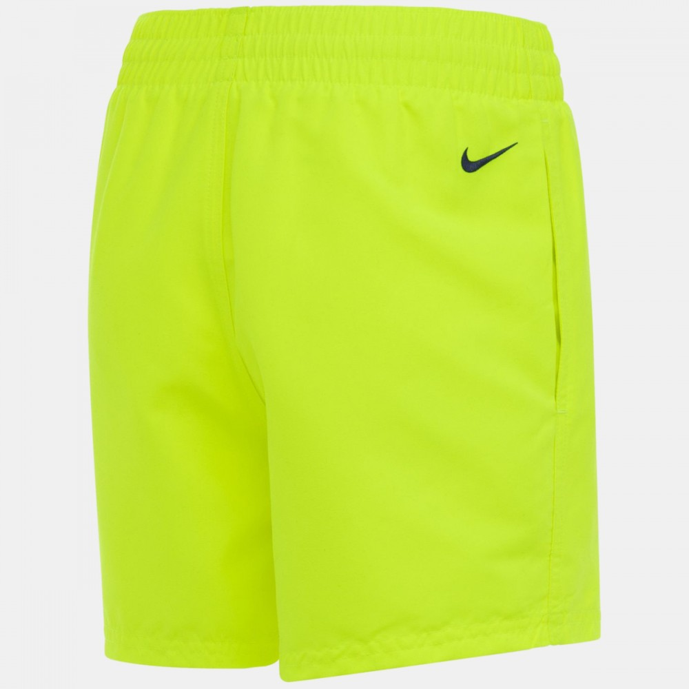 Krótkie Spodenki Nike Sportowe Dziecięce na Basen Plażę Laserowy Żółty