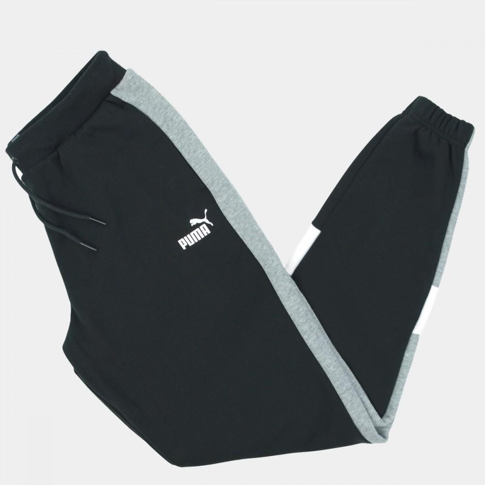 Spodnie Dresowe Chłopięce Puma RELAXED FIT Dresy Ocieplane Junior Czarne