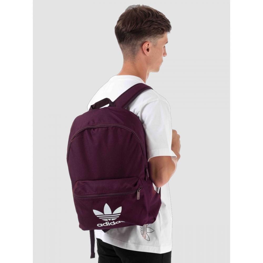 Plecak Adidas Adicolor Classic Backpack Duży Miejski Sportowy Burgund