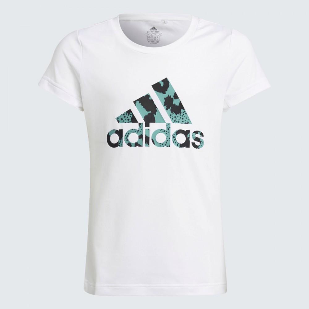 Koszulka Chłopięca Adidas AEROREADY Animal Logo Print Biała