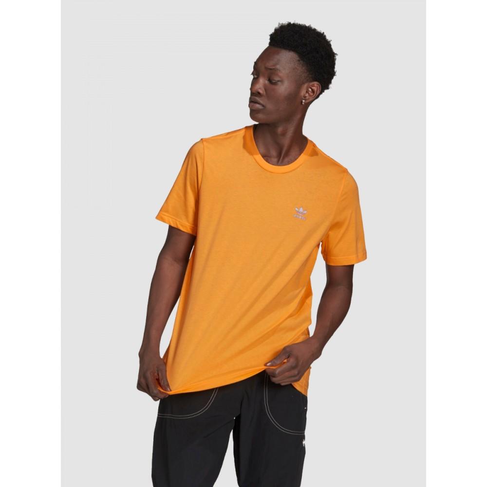 Koszulka Męska Adidas LOUNGWEAR T-shirt Bawełniana Pomarańczowa