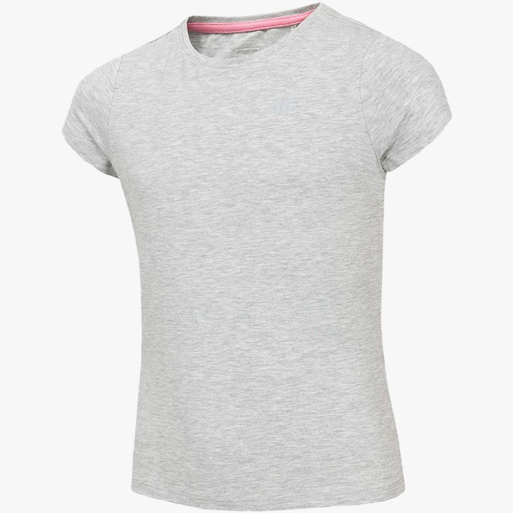 Koszulka Dziewczęca 4F Z Krótkim Rękawem Bawełniana T-Shirt