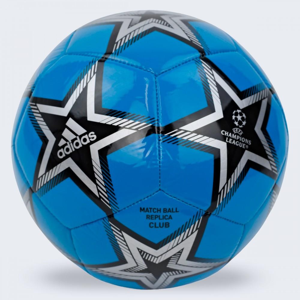 Piłka Nożna Adidas UCL Pyrostorm Ball Niebieska