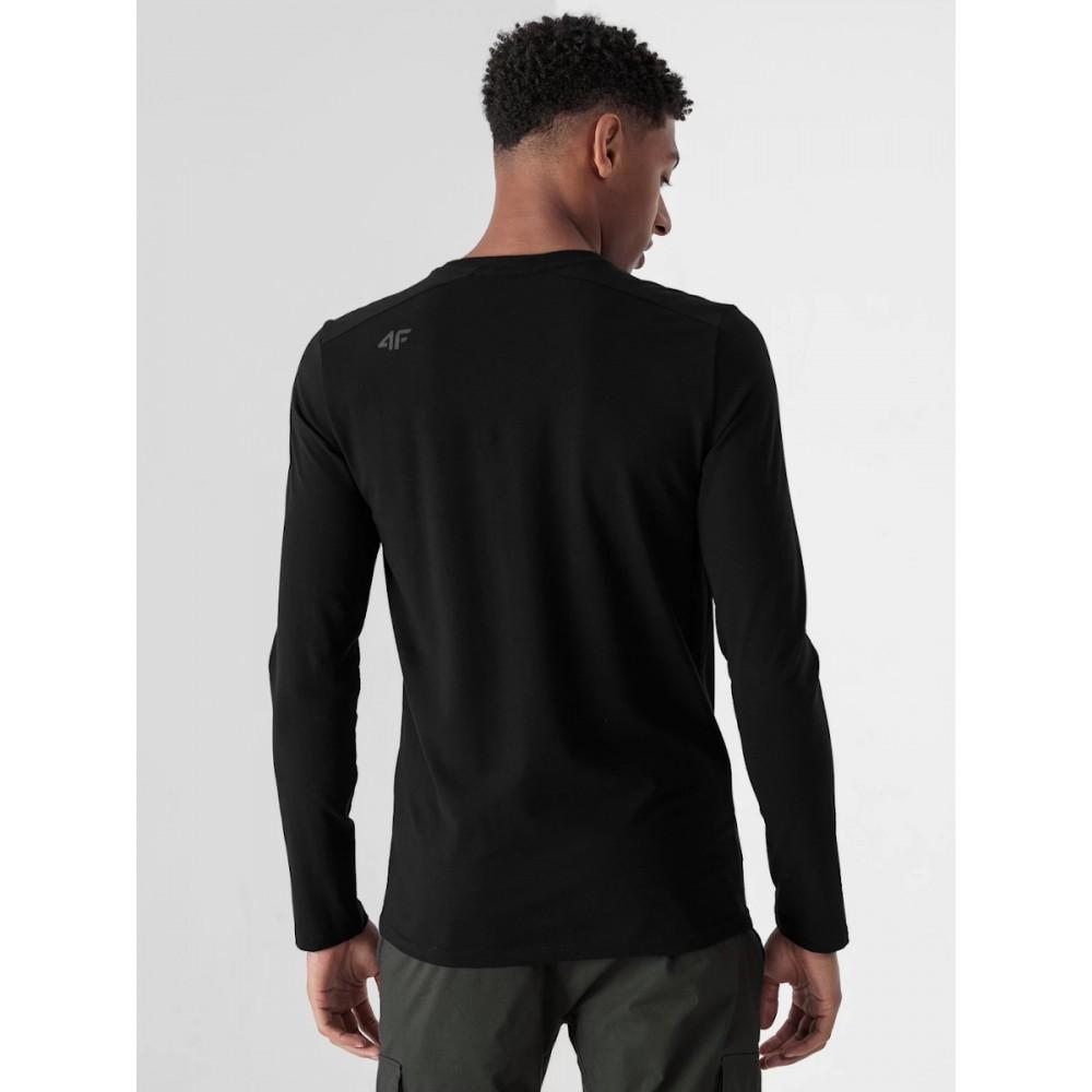 Męski Longsleeve 4F Koszulka Z Długim Rękawem Czarna