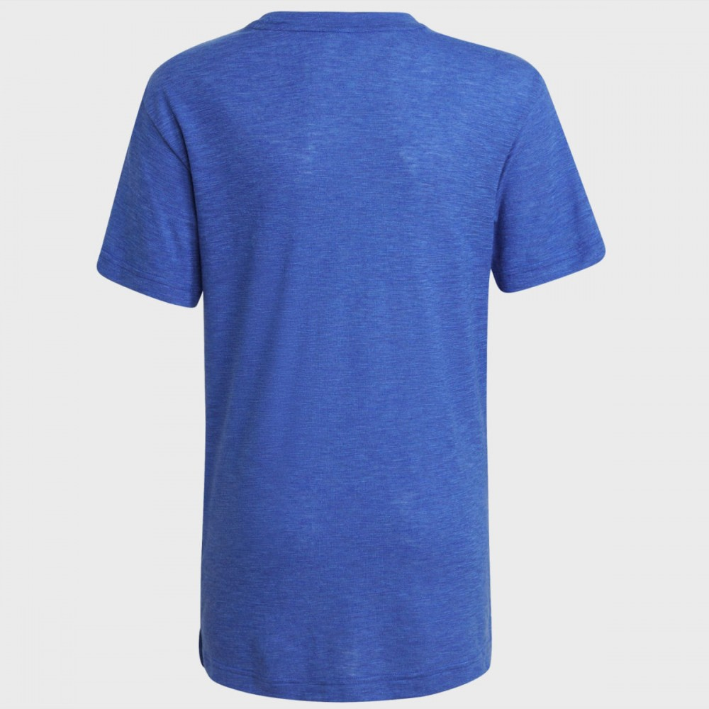 ADIDAS Badge Of Sport Koszulka Dziecięca Niebieska