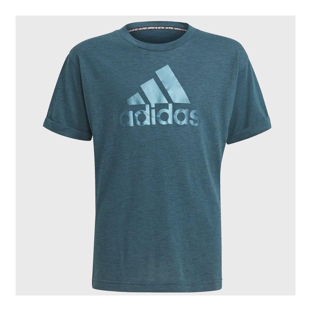 Koszulka Dziewczęca Adidsa Girls Bos Tee Morska Zieleń