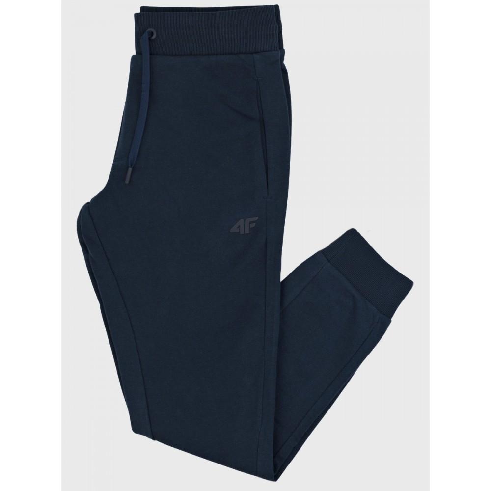 Dresowe Męskie Spodnie 4F Sportowe Bawełniane Dresy Granatowe