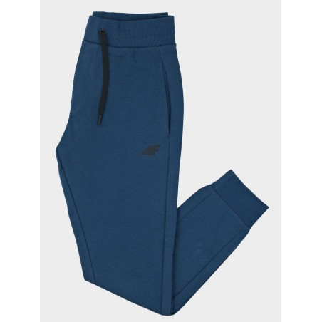 Męskie Spodnie 4F Dresowe Sportowe Bawełniane Dresy Denim