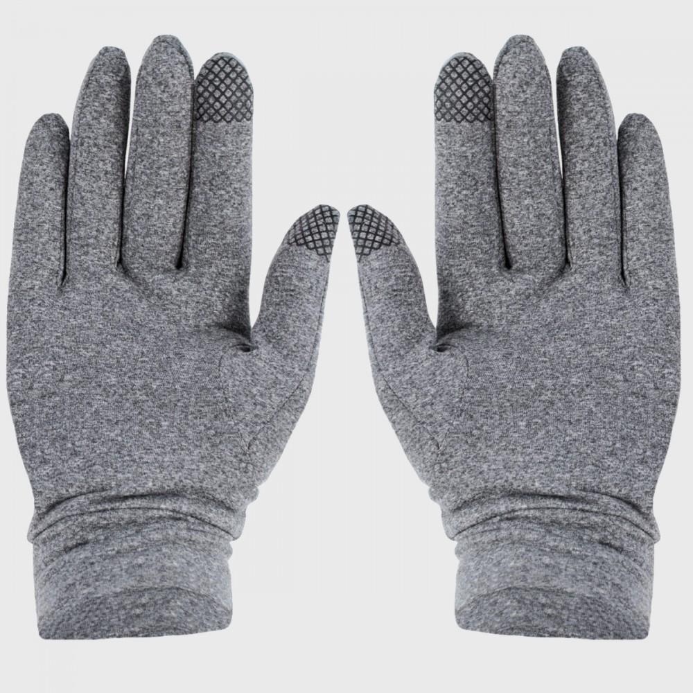 Rękawiczki 4F Zimowe Sportowe Dotykowe Smartfon Szary Melanż
